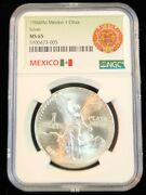 1984 Mexico Silver Libertad 1 Onza Ngc Ms 65 Nice Luster Gem Bu Great Coin