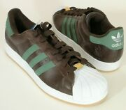 New In Box Menandrsquos Adidas Superstar Ii Tl 014541 Brown/green/gum - Size 18 M