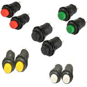 New 12mm 12v Mini On/off Moment Push Button Switch Moment Car Dash Boat Us