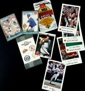 Lot Of Vintage 1990's Sports Cards And Stickers Co-branded Coke Frito Lay Etc