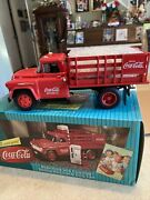 Die Cast Coca-cola Stake Truck With 2 Vending Machines And Dolly Cart