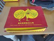 Vintage 1950s J Debeer And Son Double Header Baseball 12 Little League In Box Case