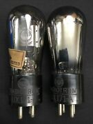 Pair Rca 71a Globe Shape Amplifier Audio Vacuum Tube Tested Strong I.9783-d