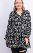Style And Co Floral Sheer Peplum Top Shirt Blouse Womenand039s Plus Size 3x
