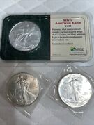 Lot Of 3 Silver American Eagle Coins 1986, 2003 And 2004 Uncirculated 1oz. Silver