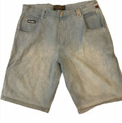 Mens Size 42 Fubu The Collection Denim Jean Shorts Cargo ⚡️📦💨🇺🇸