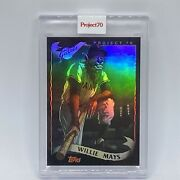 2021 Topps Project 70 Willie Mays Holographic Foil 58/70 Alex Pardee Stunning
