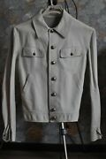Gianni Versace Motojacket Collectible 50it White Leather Pre-owned Detailed