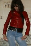 Black+red Leather Runway Tom Ford Jacke 42it S
