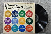 Various Artists Remember How Great... Volume 2 Columbia Record Lp
