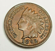 1892 Indian Head Cent Penny Bu / Ms Rb - Mint State Red Brown