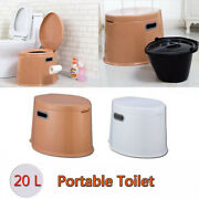 10l Portable Toilet Seat Camping Travel Porta-potty Commode Home Outdoorandindoor