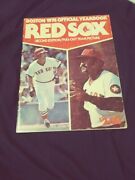 Boston Red Sox 1976 Signed Yearbook Rice Rose Tiant Morgan
