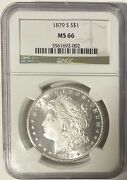 1879 S/s Morgan Dollar Ngc Ms66 Superb Gem W/ Semi-pl Obv. Outstanding Frost