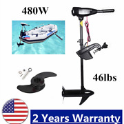 12v Electric Outboard Engine Brush Motor 480w Boat Engine For 5-7 People Usa