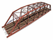 Central Valley-double Track Heavy Duty Laced-truss Bridge -- Kit - 28-1/4 X 4-3/