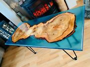 Luxury Custom Order Olive Acacia Wood Epoxy Resin Table-dining Table Kitchen Top