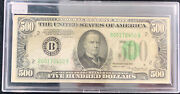 1934 500 Federal Reserve Note Extremely Fine Xf