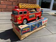 Ko Toys Japan No K1820 F-6 Friction Powered Fire Engine In Its Original Box Rare