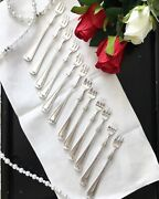 Silver Plated Cocktail / Seafood Fork In The Princess Louise Pattern, By Gorham