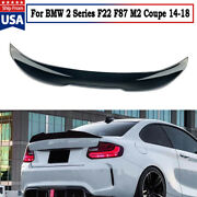 Duck Bill Rear Trunk Spoiler For 2014-18 Bmw 2 Series F22 F87 M2 Coupe Psm Style