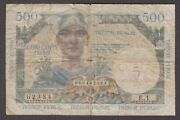 France-military For Use In Germany 5nf On 500 Francs 1960 P.m14-2384 Rare Vg