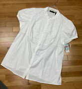New Inc International Concepts Woman Eyelet Lace Short Sleeve Blouse Top Pus 20w