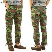 Polo Straight Fit Camo Cargo Pants - Camouflage -