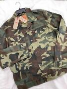 Nwt Menand039s Leviand039s Authentic Denim Jeans Camouflage Jacket Large Green Brown Camo