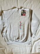 Hanes Her Way Vintage Womens Pullover Crewneck Sweater Size Large Gray Nwt