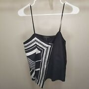 Rag And Bone Isadora Camisole Tank Top Womens Size 0 Cami Black White Striped 295