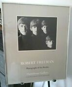 Rare Framed 1993 Beatles Photo Exhibit Poster Signed By Robert Freeman 24x20