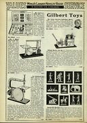 1933 Paper Ad Gilbert Toy 110 Volt Induction Motor Kaster Kit Soldiers Indians