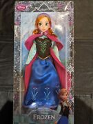 New Authentic Disney Store Exclusive Frozen Anna Classic 12 Doll Collection