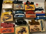 Lot Of 11 Avon Vintage Cars And Trucks Cologne Bottles With Boxes Taxi Greyhound
