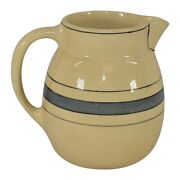 Roseville Pottery Creamware Utility Gray Banded Pitcher