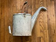 Vintage Galvanized Radiator Filling Can Goose Neck Antique Gas Station Water