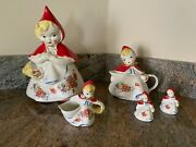 Hull Pottery Little Red Riding Hood Set