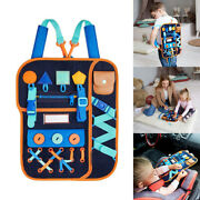 Kids Busy Board Buckle 1-5 Years Old Zip Button Lace Up Tool Toy Montessori +