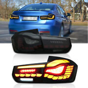 Tail Lights For 2013-2018 Bmw 3-series 3d Animation W/h Sequential Turn Singnal