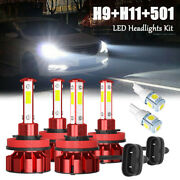 For 2013 Ram C/v Led Headlights High Beam And Low Beam Kit + 501/w5w/t10/168/194