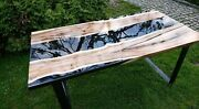 Epoxy Resin Dining Coffee Table Premium Quality Acacia Handcrafted Gift For Her