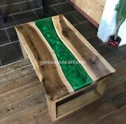 Resin Table Diningepoxy Table Woodepoxy Resin Table Greenlive Edge Dine Table