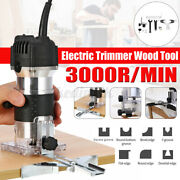 800w Electric Hand Trimmer Wood Laminate Palm Router Joiner Workshop Power Tool