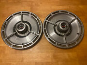 Two Vintage 1964 64 Chevrolet Chevy Impala Chevelle Ss Hubcap Wheel Cover