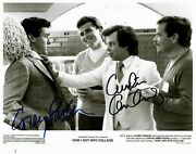 How I Got Into College Corey Parker Curtis Armstrong Signed 10x8 Bandw Photo Coa