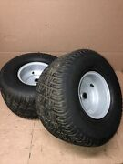 Toro 13-38hxl Lawnmower Tractor Set Of 18x9.50-8 Rear Turf Tires And Wheels