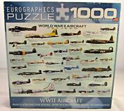 Eurographics World War 2 Aircraft Puzzle - 1000 Piece Jigsaw Puzzle Complete