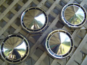Vintage 60 61 Ford Galaxie Fairlane Ltd Pickup Hubcaps Wheel Covers Center Caps