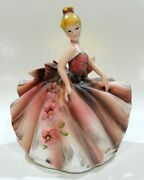 Vintage Large Lefton Southern Belle Planter Hand Painted Model Mr23029a Exc Cond